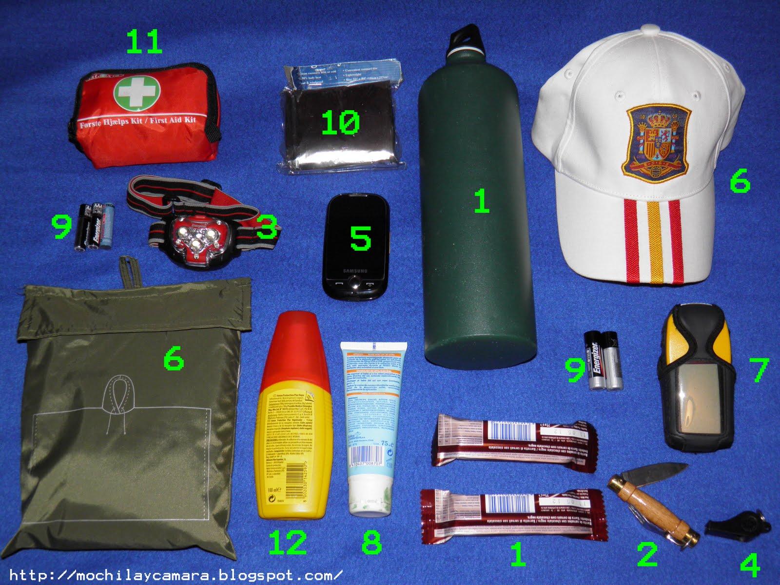 materiales necesarios para el senderismo