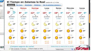 Foto 5, ejemplo de pronóstico del tiempo